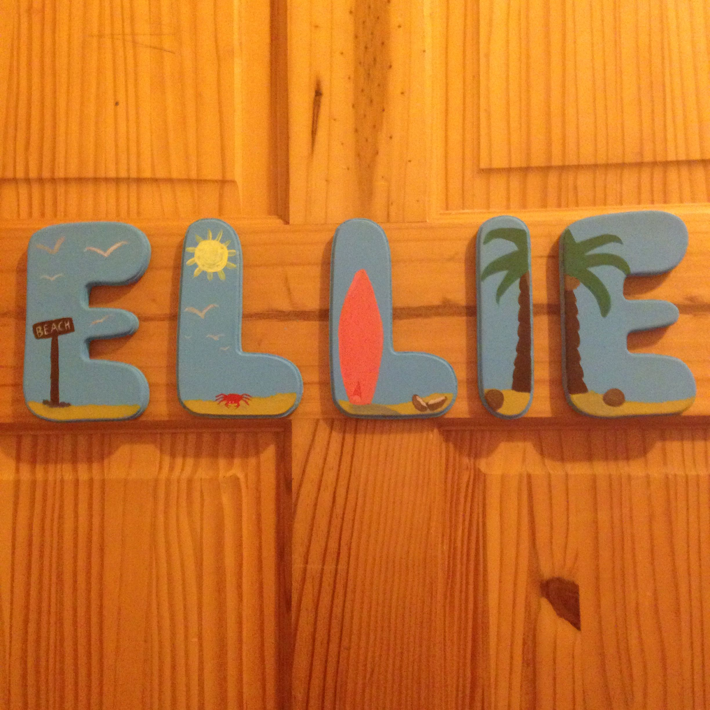 Childrens painted room names