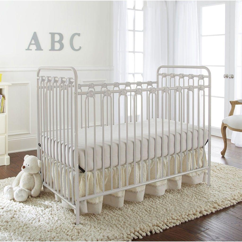 La Baby Napa 3 In 1 Convertible Full Sized Metal Crib Kohls Metal Crib Cribs White Baby Cribs