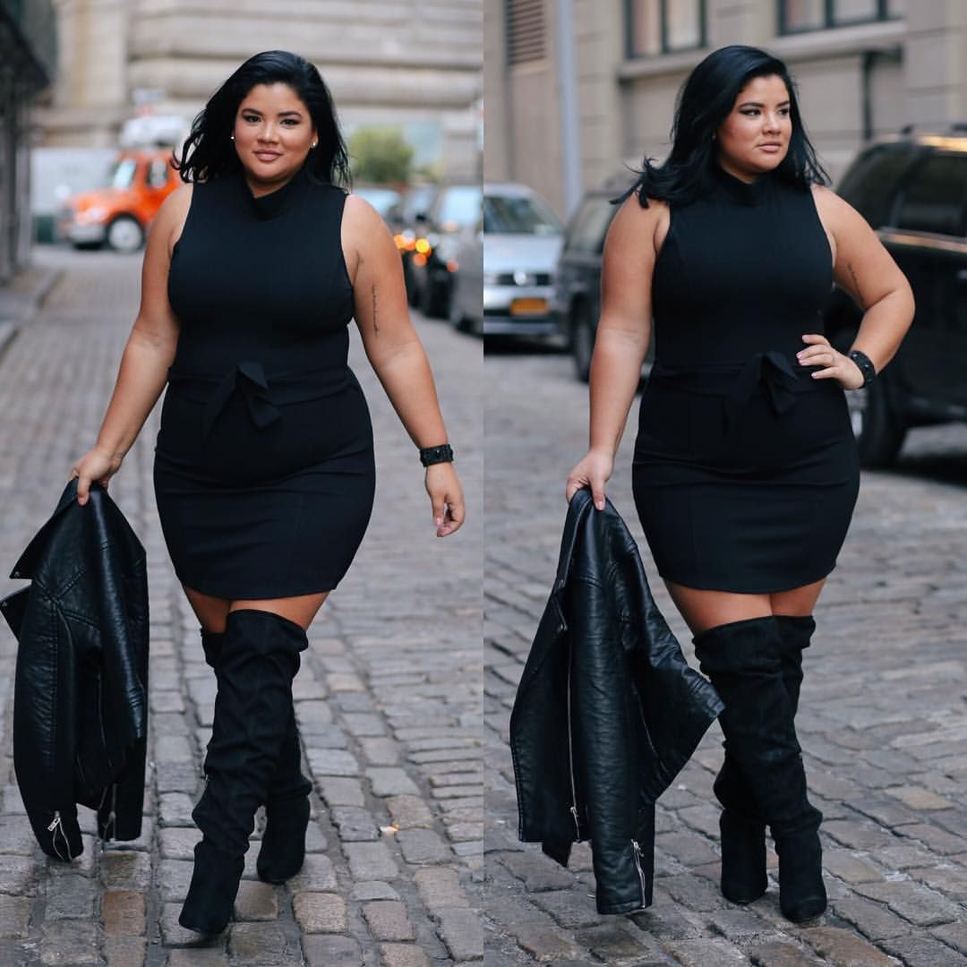 Plus Size Dress With Boots