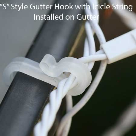 Icicle And Mini Light Accessories Christmas Light Gutter Hooks 100 Pack Christmas Lights Etc Light Accessories Hanging Christmas Lights Christmas Lights