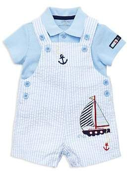 41dae1285 Little Me Boys' Anchor Seersucker Overalls & Polo Set - Baby | Baby ...