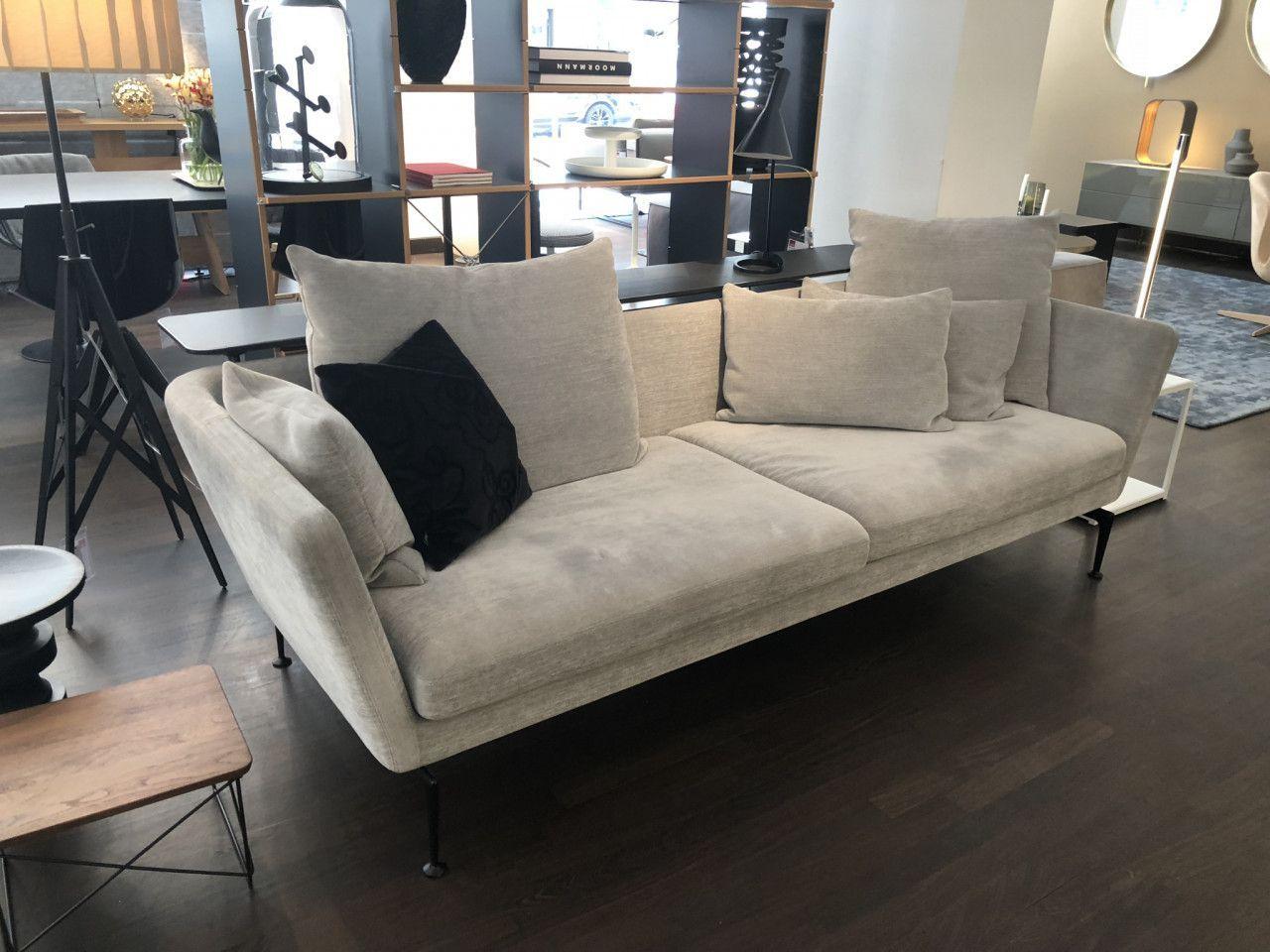 Sofa Suita Vitra Stoff Silbergrau Designermobel Einrichtung