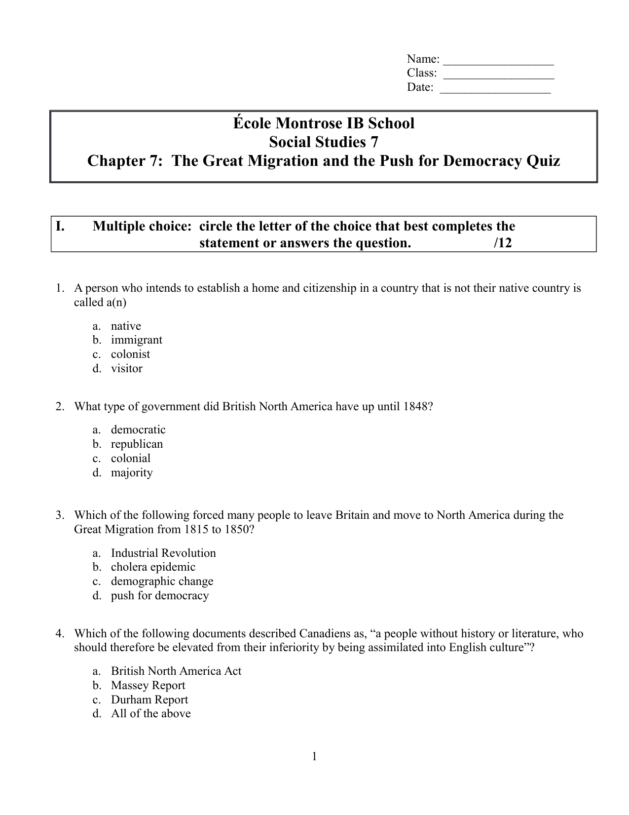medium resolution of Our Canada Chapter 7 Quiz Resource Preview   Social studies