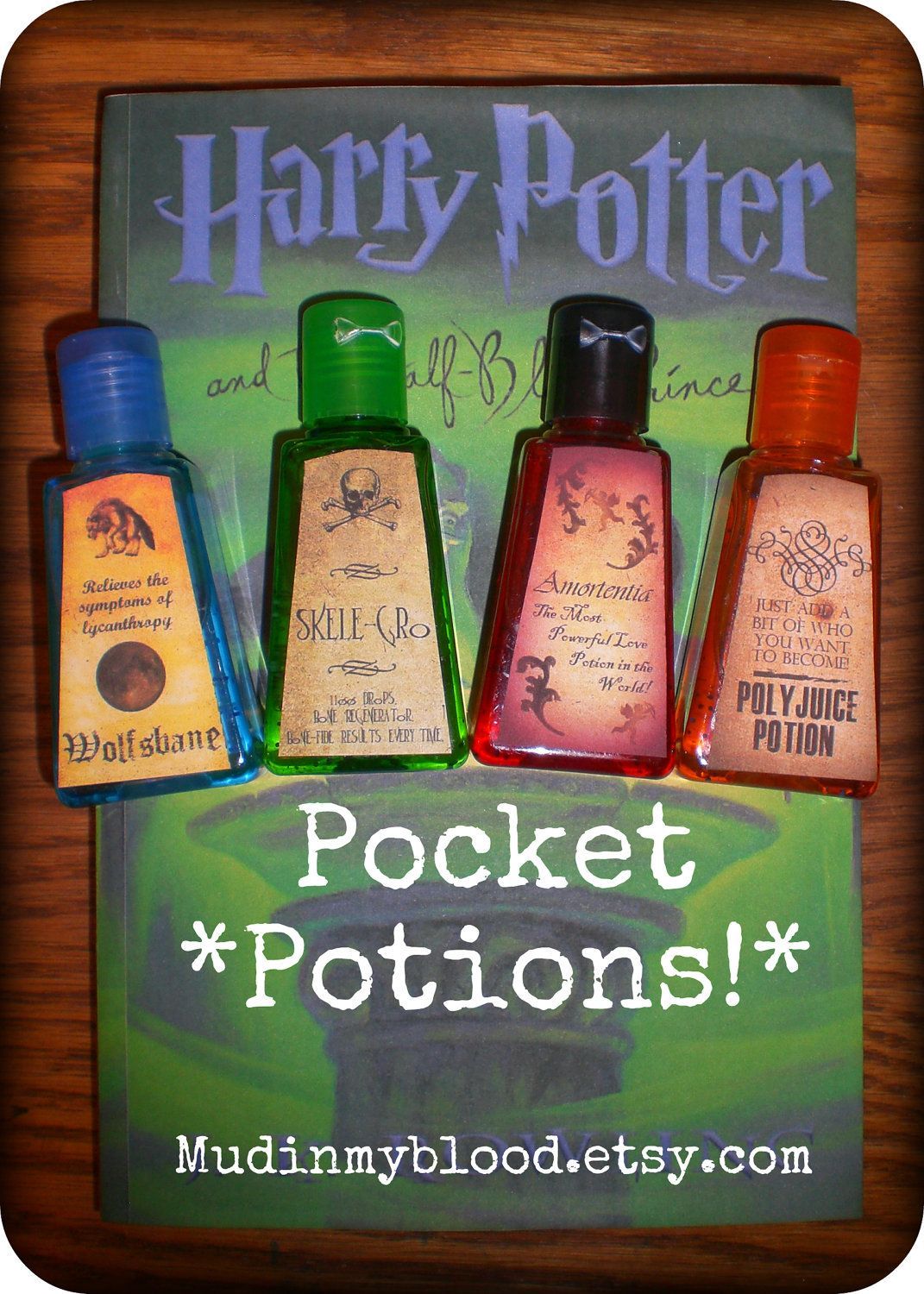 Four Harry Potter Inspired Anti Bacterial Hand Sanitizers In Mini