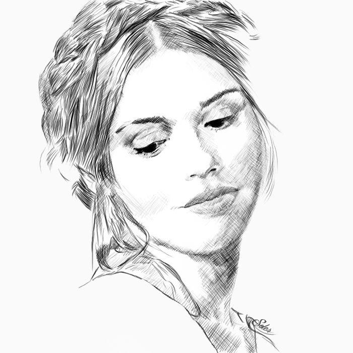 Lydia Martin. Sketch by Alex-Soler.deviantart.com on @DeviantArt