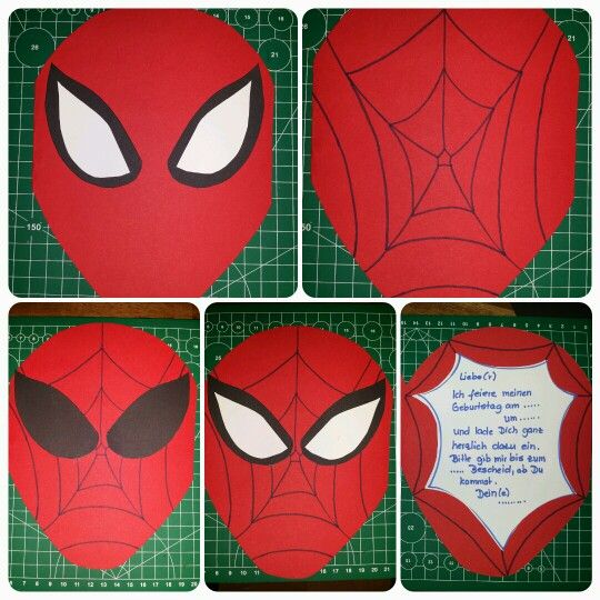 Schön Spider Man ( Spidermen ) Einladungskarte #spider #man #spiderman #diy # Einladung #geburtstag #birthday #card #kids #kinder