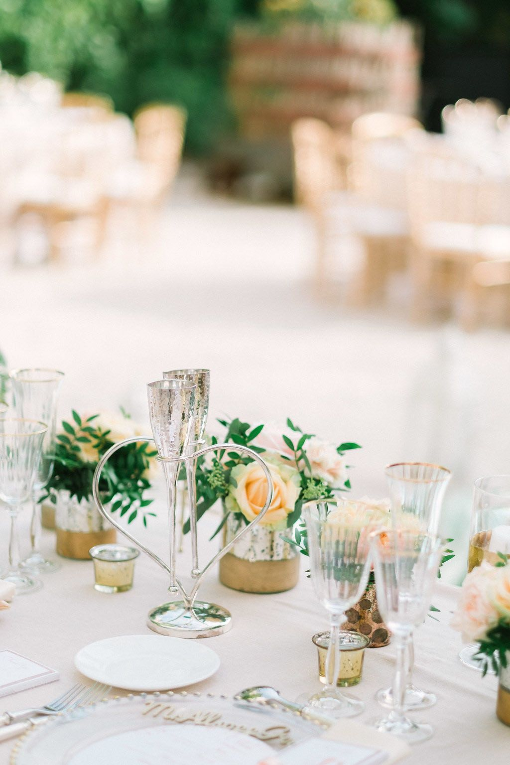Entwined Heart Lovers' Flutes Classic romantic wedding