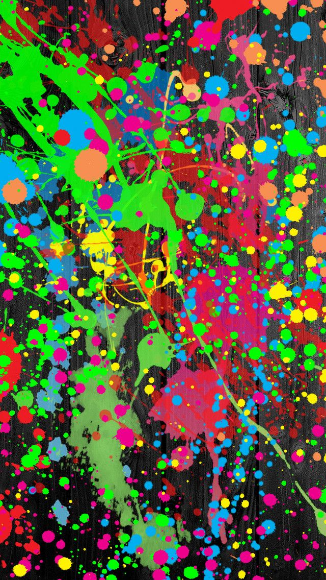 Customize Your IPhone 5 With This High Definition Paint Splatter Wallpaper From HD Phone Wallpapers