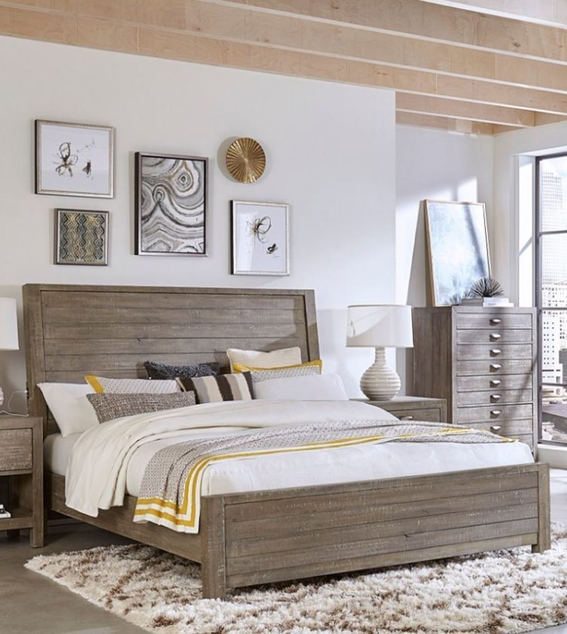 Shop The Radiata Panel Bed And Bedroom Collection By Aspenhome At Woodstock Furniture Mattress Outlet Special Furniture Mattress Furniture King Storage Bed