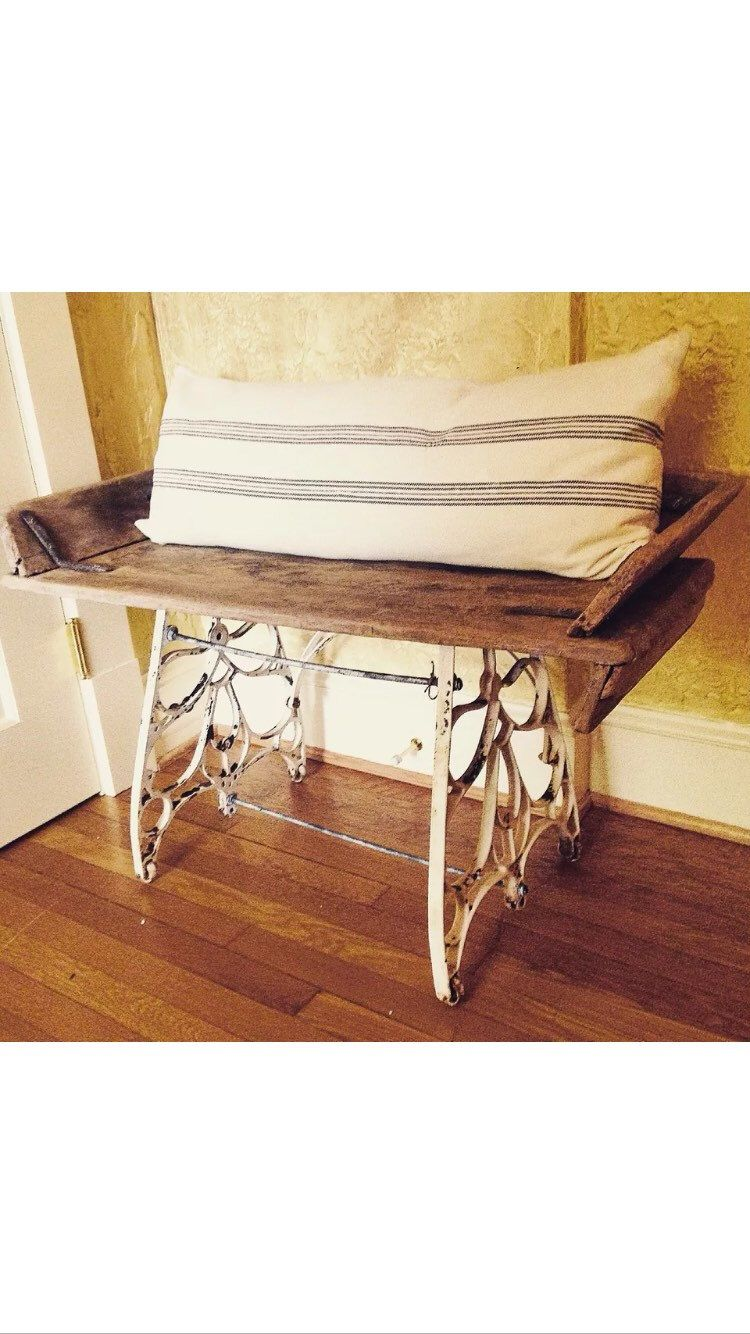 Salvaged primitive bench horse buggy carriage seat wood