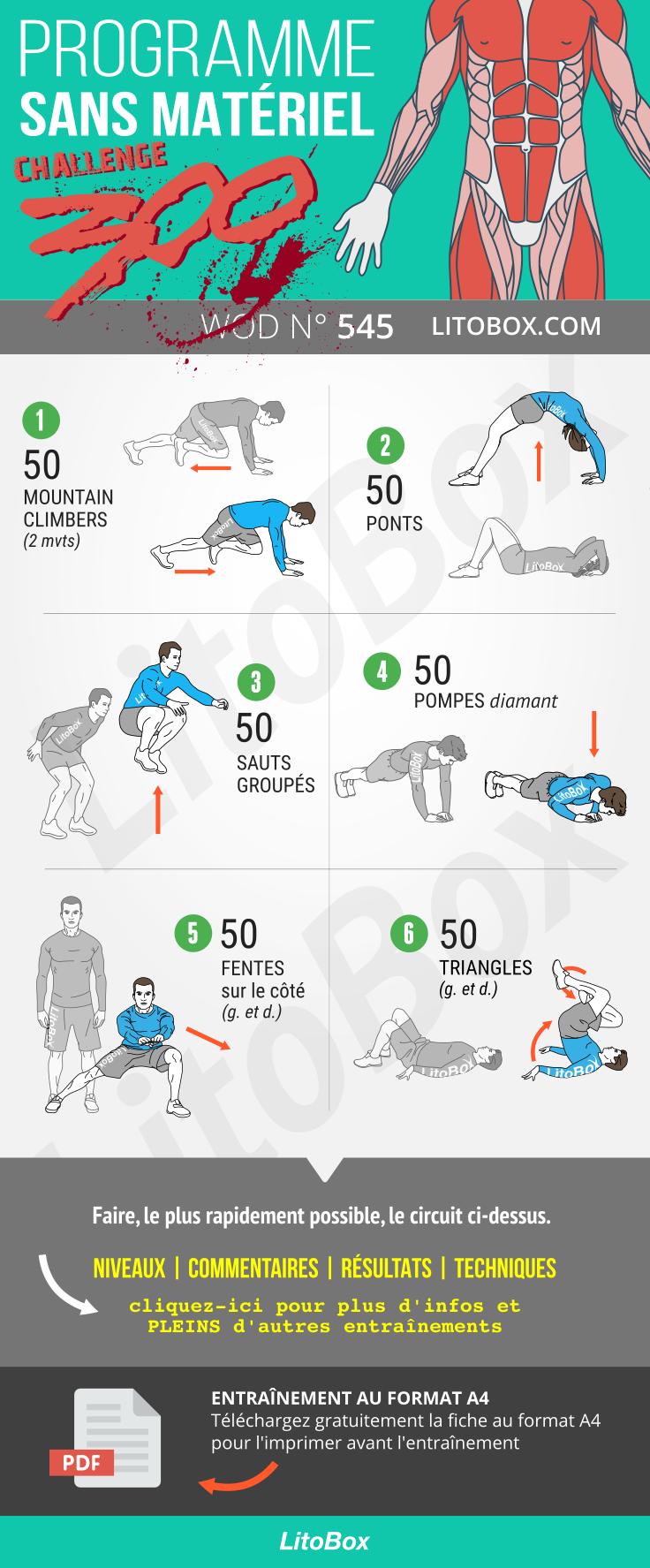Challenge sportif 300 répétitions (PDF à télécharger ...