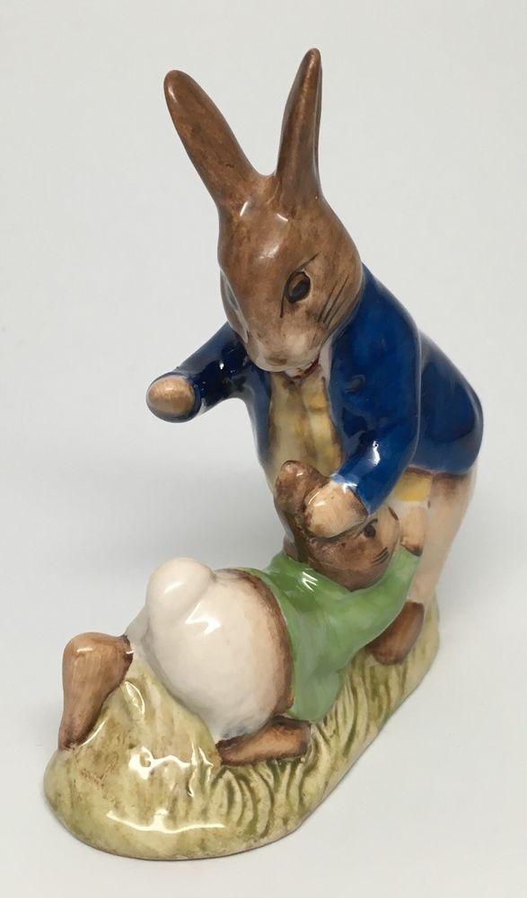 "Blue Green Beswick Beatrix Potter's "" Mr Benjamin Bunny and Peter Rabbit "" | eBay"