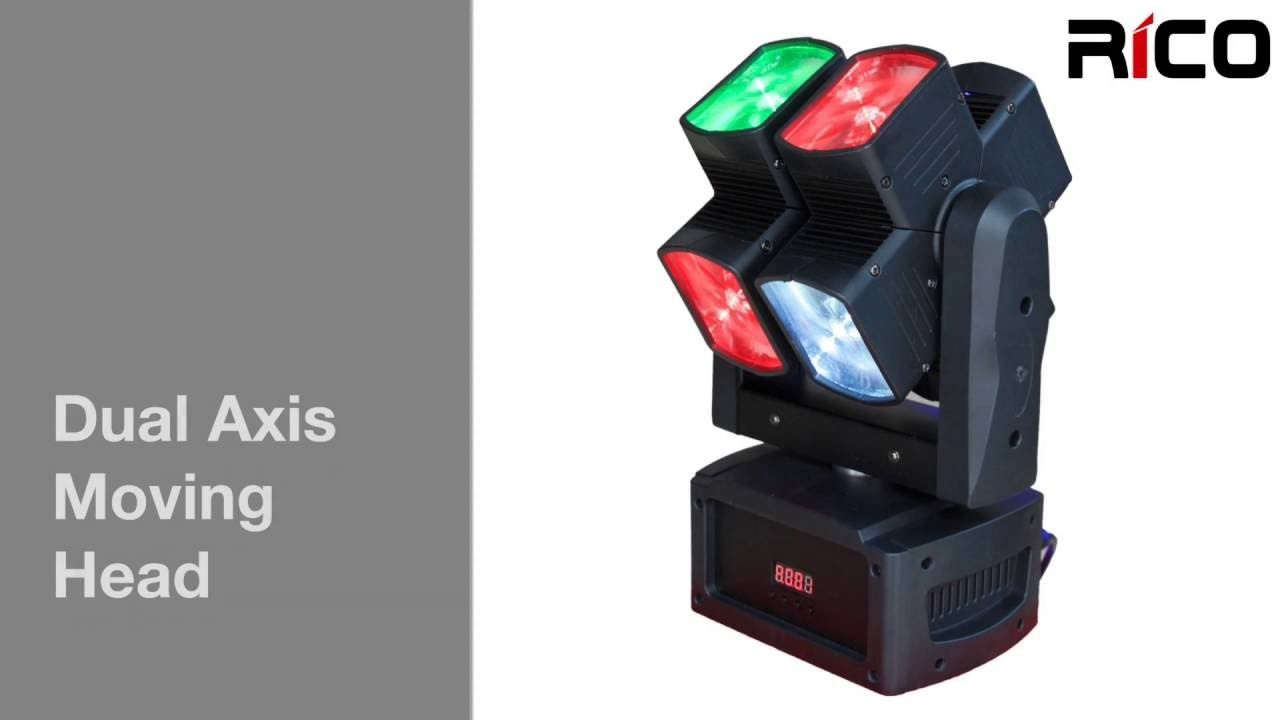 Teste Mobili Led Hot Wheels 8 10w Dual Axis Heads Moving Head Light Led Moving