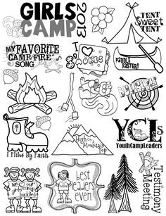 Girl Scout Camp Clipart
