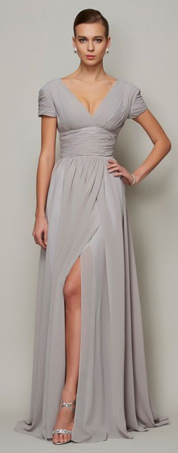 3be1bc848cd Gorgeous sexy split front chiffon special occasion dress for summer weddings