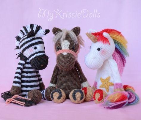 Free Crochet Horse Patterns - Amigurumi Patterns ⋆ DIY Make To | 404x474