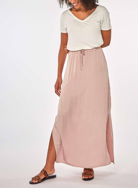 5894986e76e Womens   Vila Dusty Pink Maxi Skirt- Pink