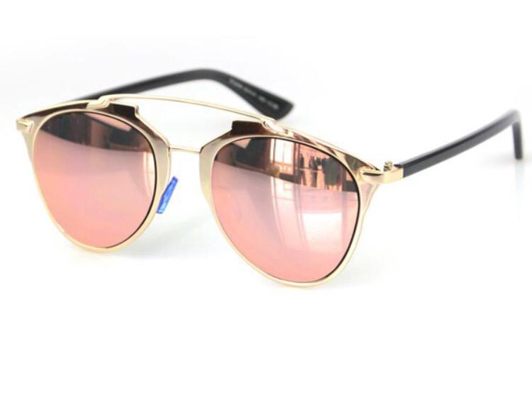 Paris rose gold mirror sunglasses for Miroir rose gold