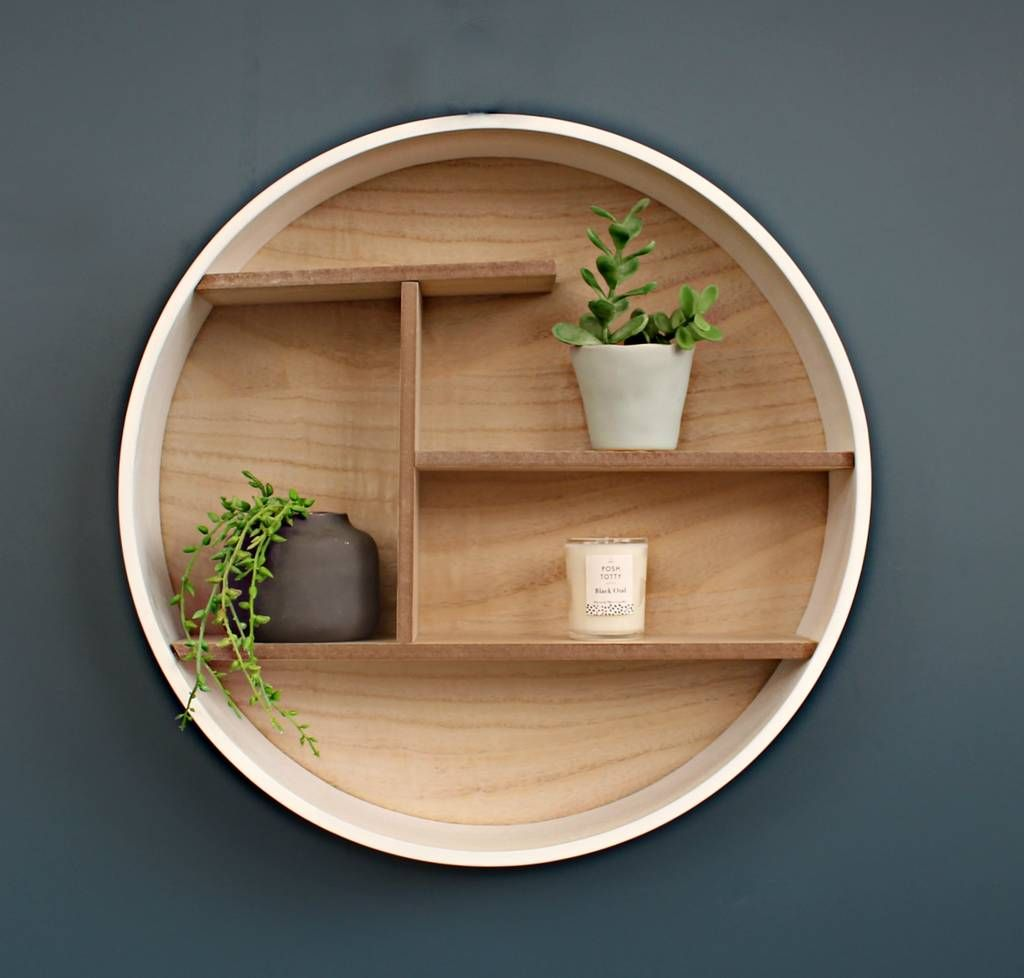 Round Wooden Shelving Unit By Posh Totty Designs Interiors Wooden Shelving Units Wooden Walls Shelving Unit