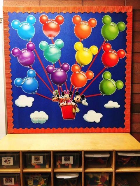 Disney Classroom Decorations Birthday bulletin boards Birthday