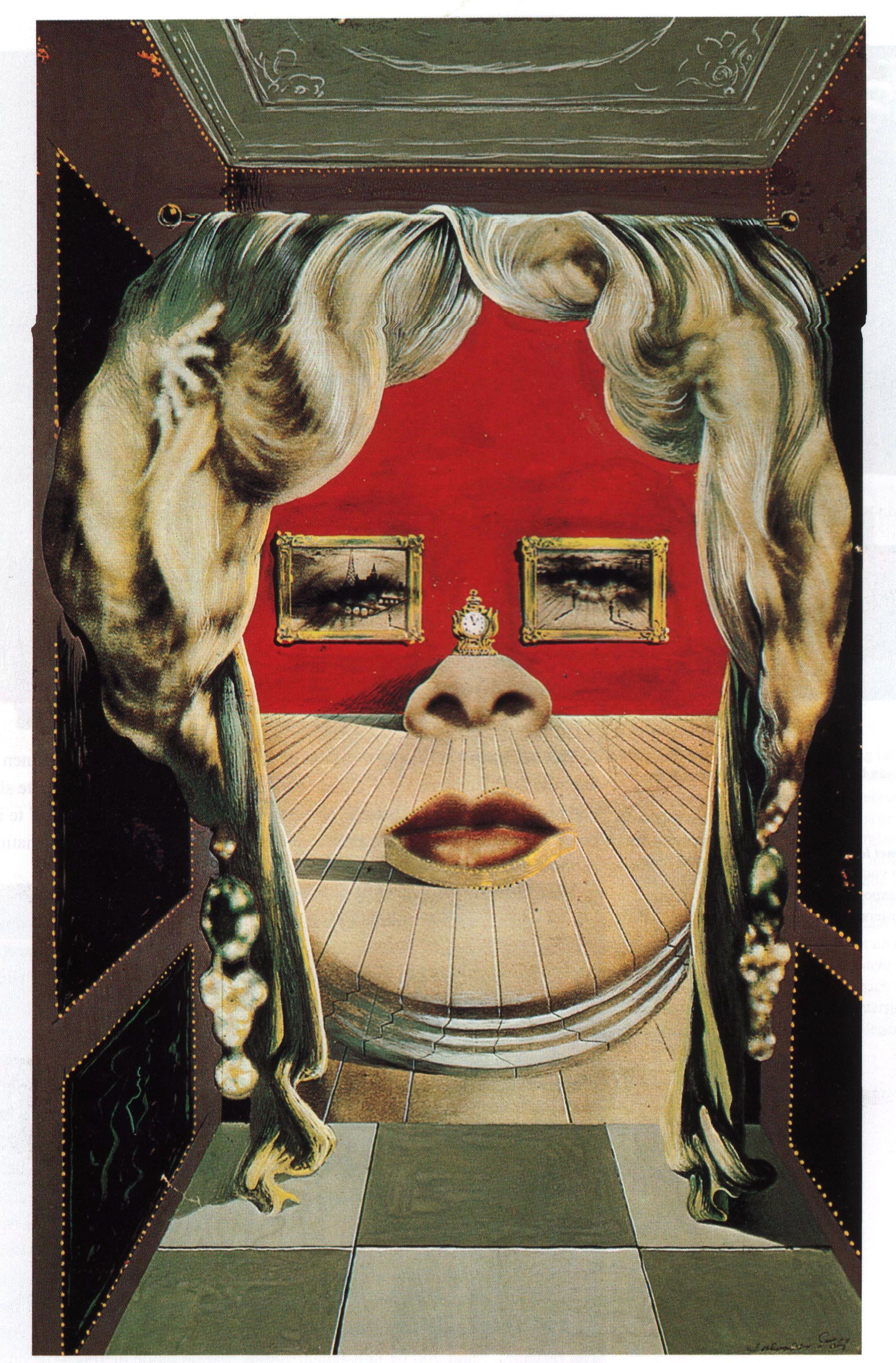 Het Gezicht Van Mae West Dat Gebruikt Kan Worden Als Een Surrealistisch Appartement 1934-1935