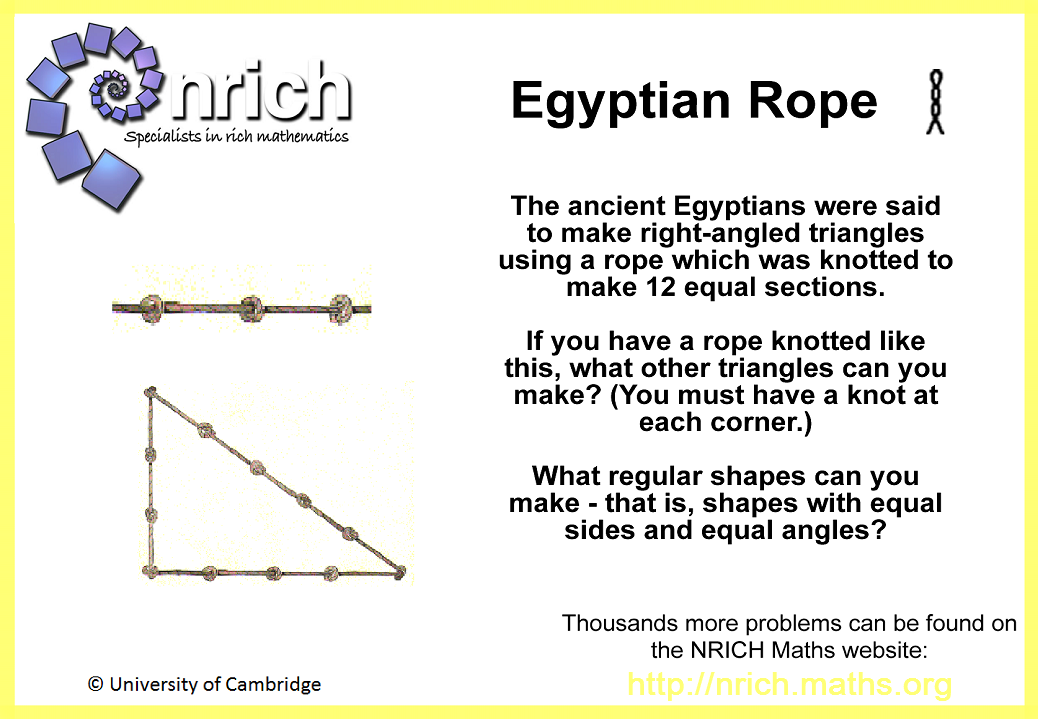 Egyptian Rope Poster Nrich Maths Org Math Poster Math Challenge Egypt Project