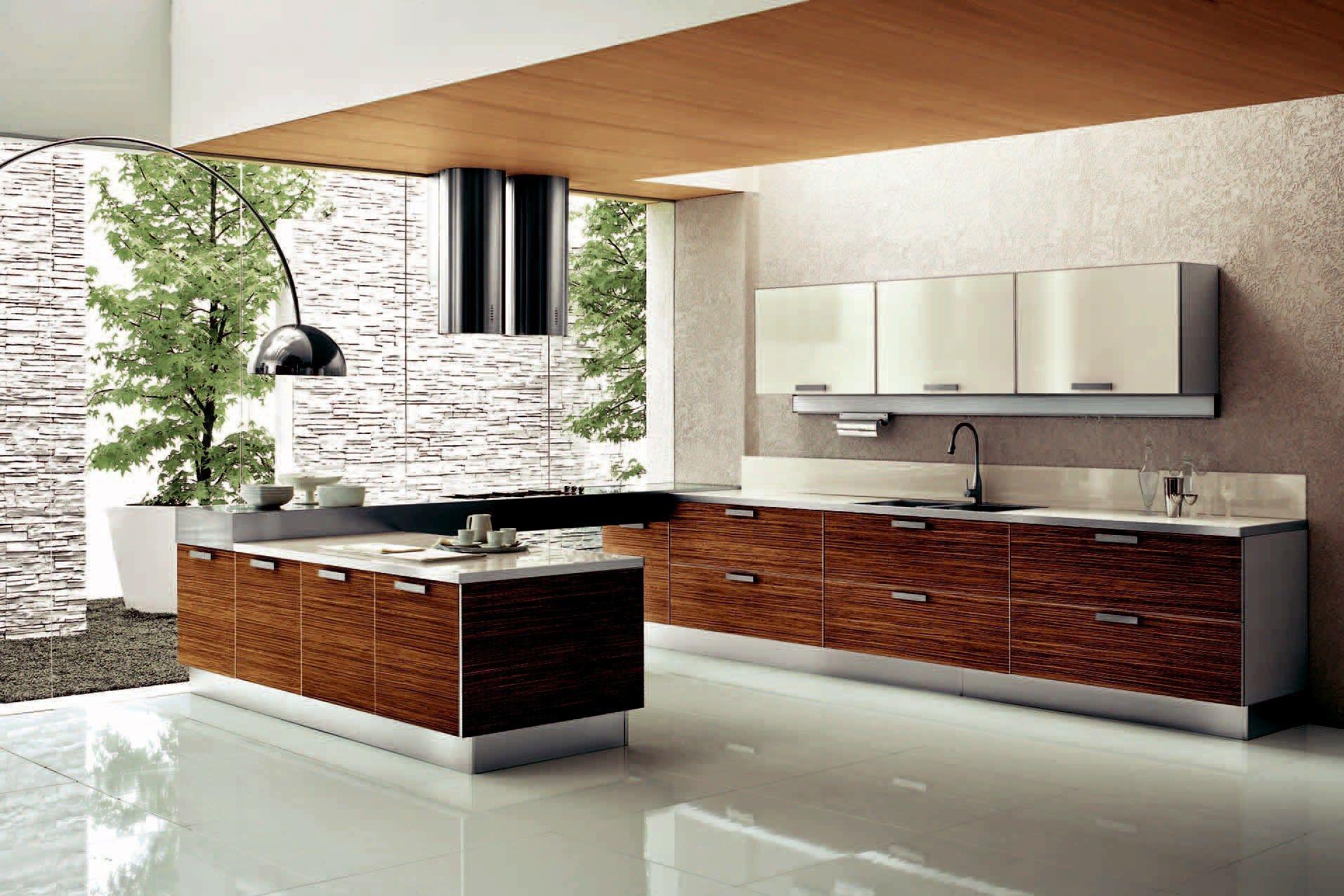Aluminum And Wood Kitchen Set