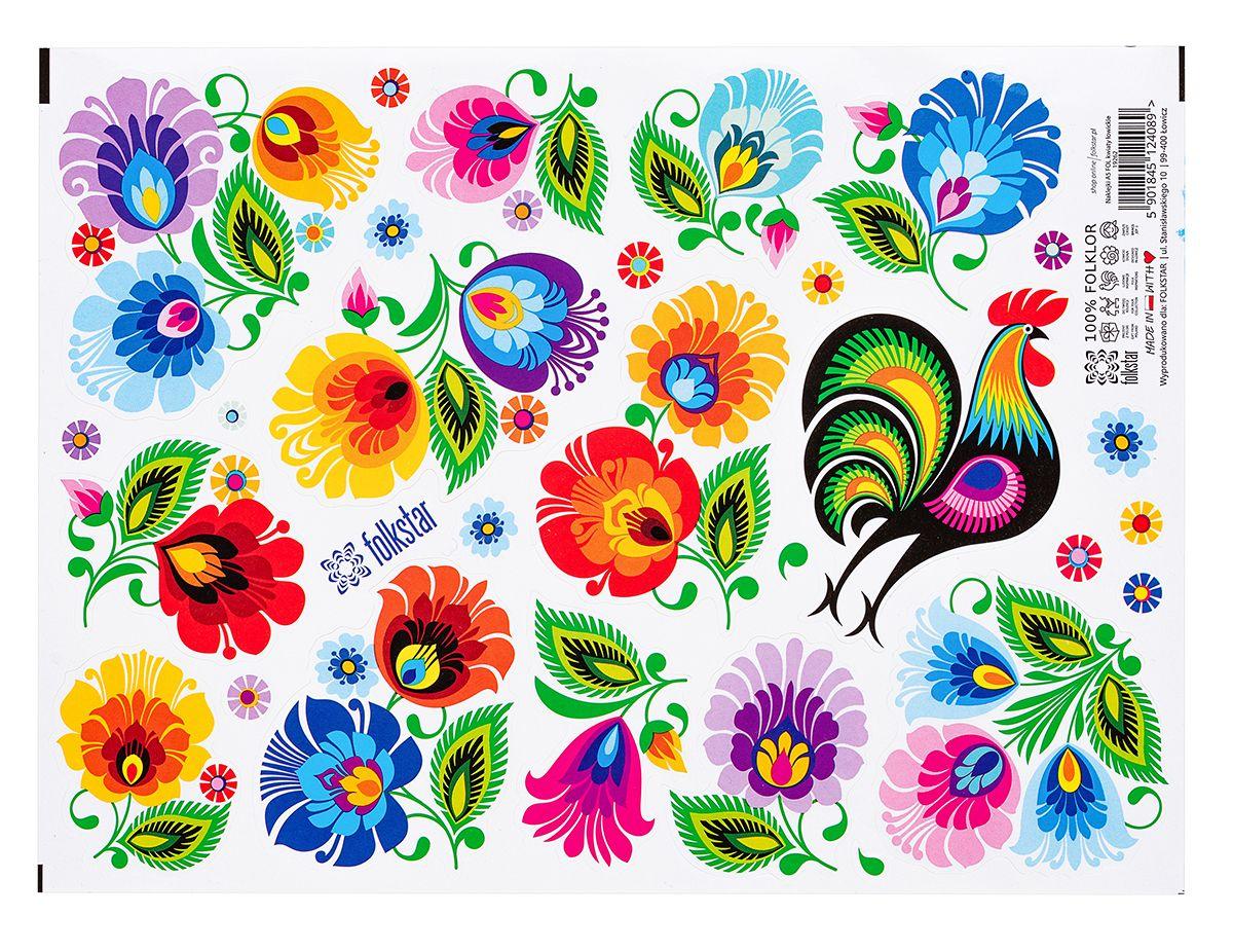 Naklejki Folkowe Lowickie Wzory With Images Artysci Naklejki