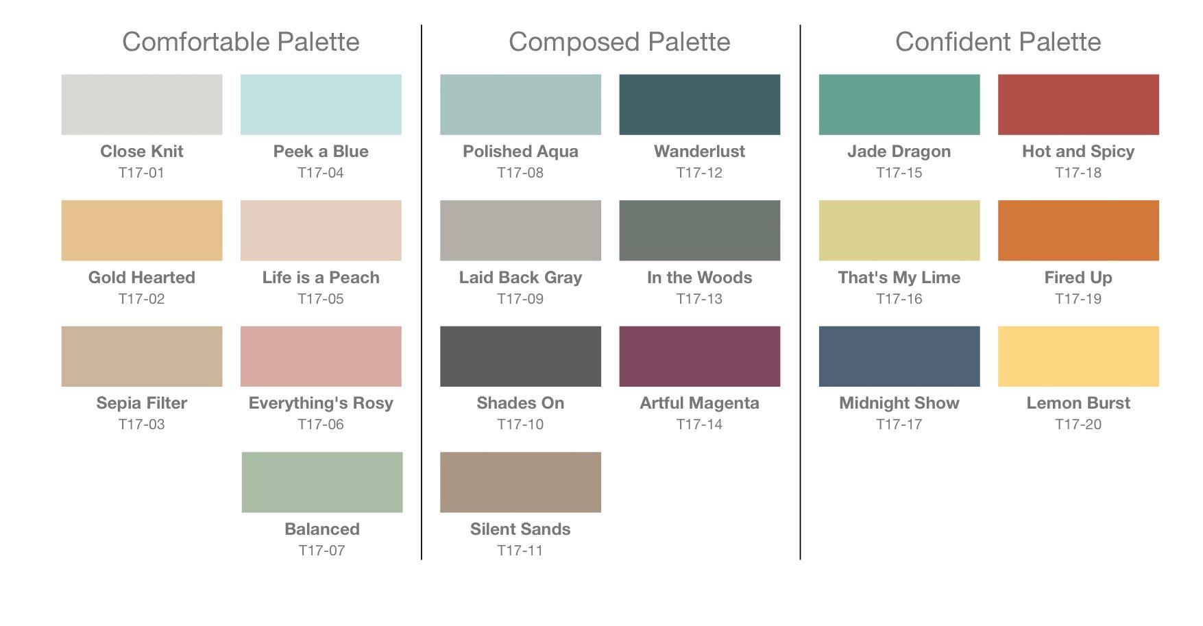 behr s tri palette for 2017 paint colors of 2017 pinterest