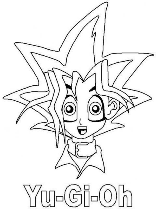 Yugi Muto Surprised In Yu Gi Oh Coloring Page Netart Coloring Pages Marvel Coloring Yugioh