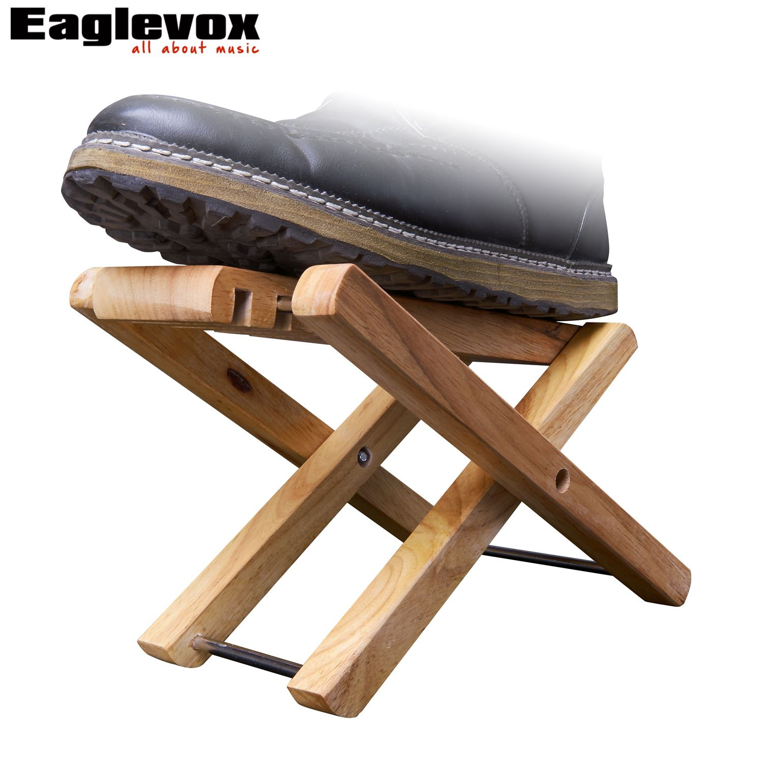 Guitar Footrest Wood Foldable Foot Rest Stand 3 Easily Adjusted Height Positions Am Wp10