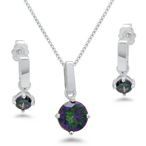 Rainbow Mystic Topaz Earring and Necklace Set Kriskate & Co.. $39.99. Save 33%!