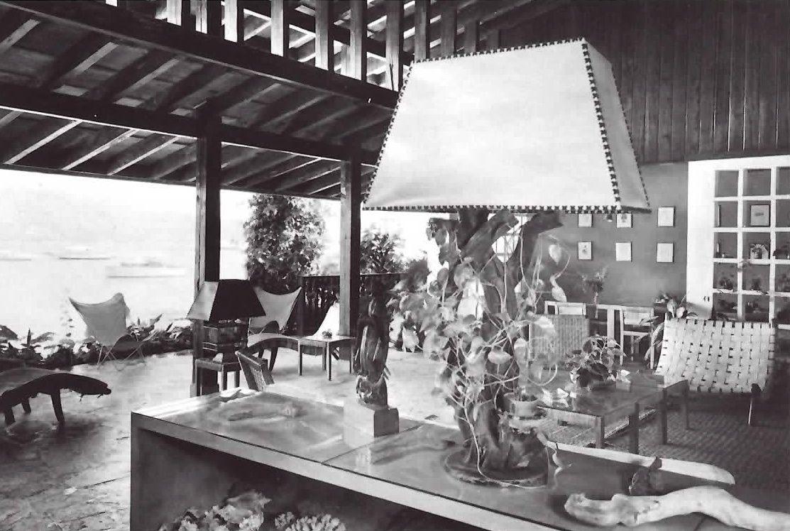 vista interior casa particular de mario pani en acapulco