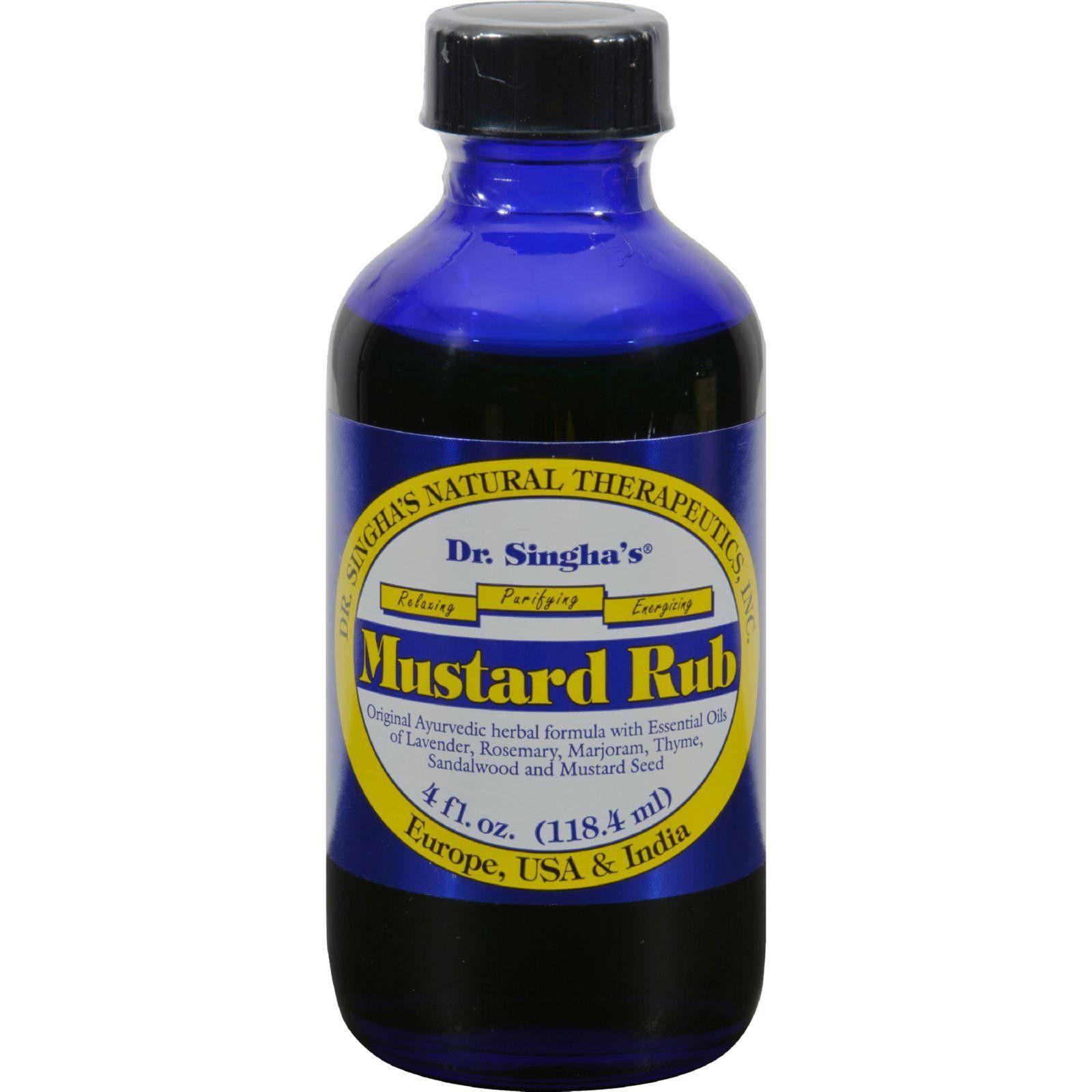 Dr. Singhas Mustard Rub - 4 fl oz
