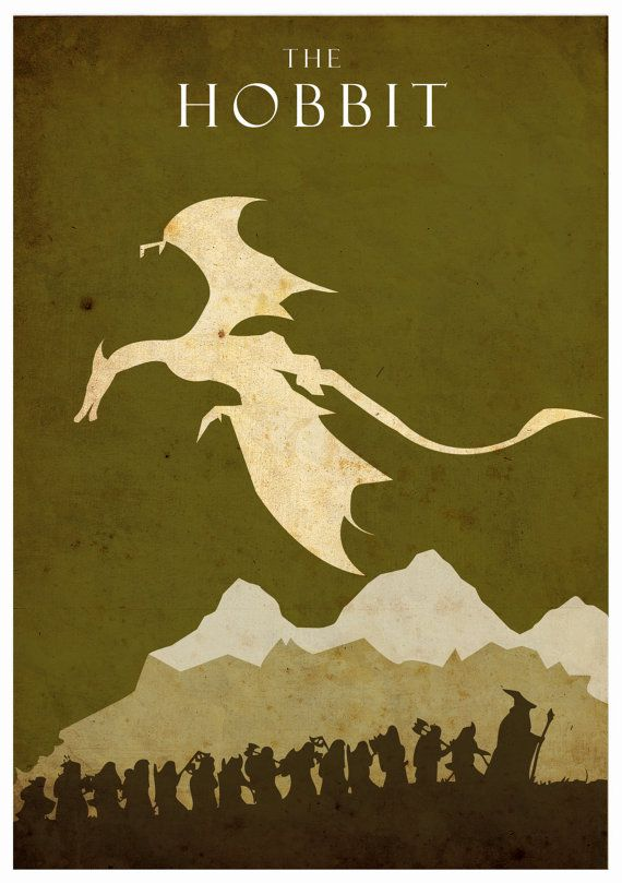 The Hobbit   Lord of the Rings A3 poster Listing by colorpanda,