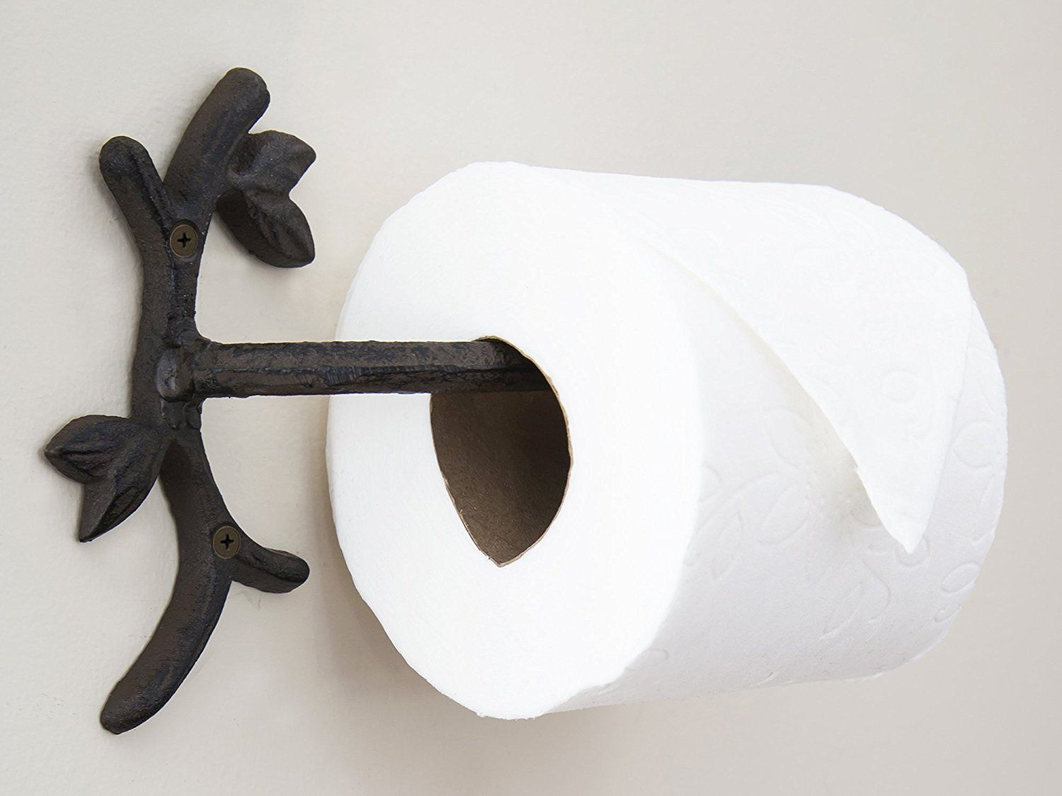 Amazon Com Toilet Paper Holder Branch With Leaves Cast Iron Wall Mounted Toilet Tissue Hold Toilet Paper Holder Wall Mounted Toilet Bathroom Tissue Holder