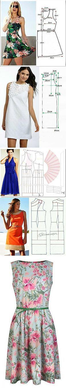 vestido de verano elegante (+ patrón)