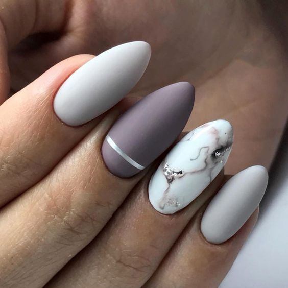How to make almond marble nails – nail art