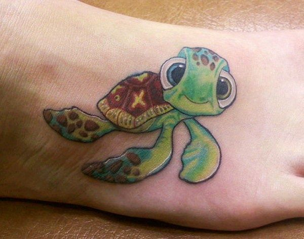 ad66d225904ca 80 Simple and Small Sea Turtle Tattoos Design with Meanings | tattoo ...