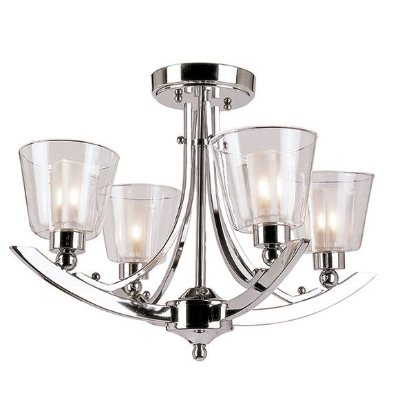 Clear arc 5 light semi flush mount products pinterest products bel air lighting stewart ceiling polished chrome halogen semi flush the home depot mozeypictures Choice Image