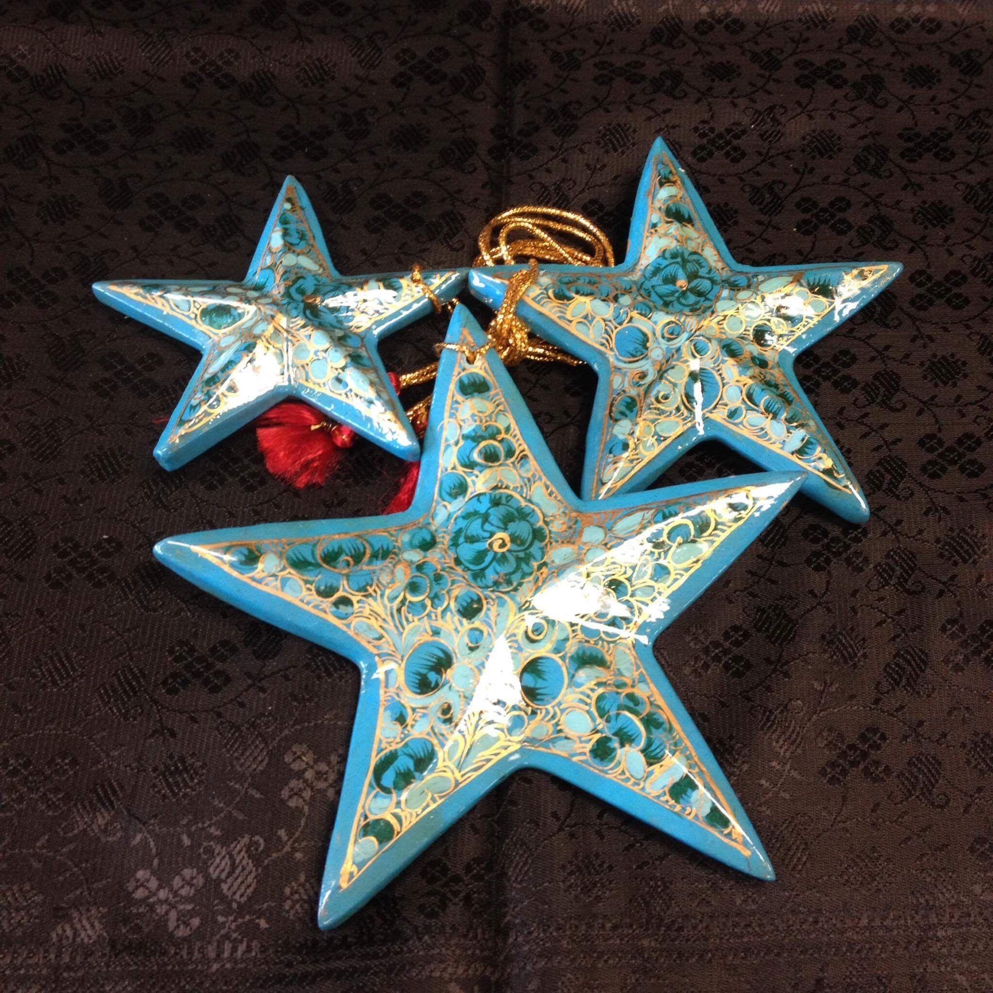 Paper Meche Christmas Ornaments