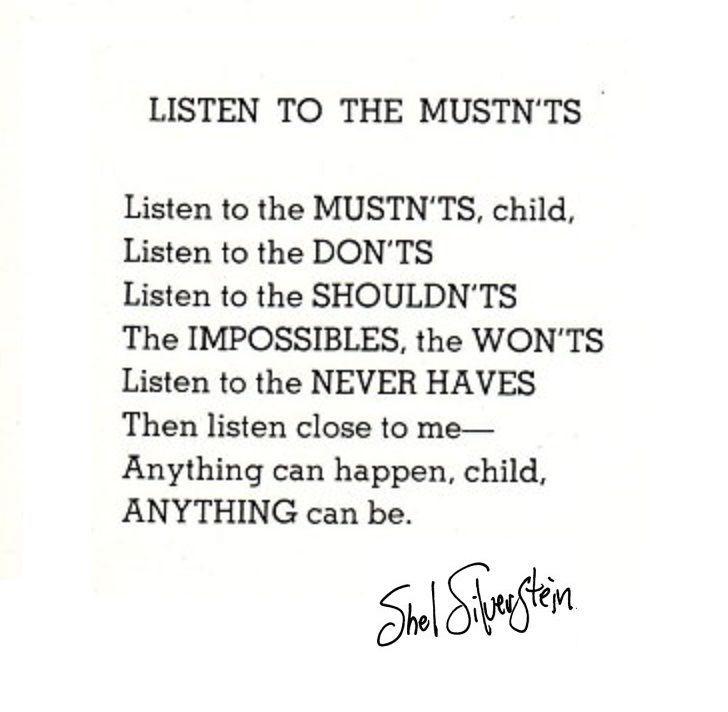 Listen to the Mustn\'ts   Shel Silverstein   Live   By   Pinterest ...