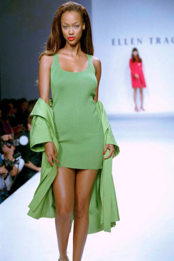 45 Runway Looks From The 90s That Should Make A Comeback -  This green dress and matching jacket 45 Runway Looks From The 90s That Should Make A Comeback  - #90s #CelebrityStyle #comeback #looks #MenGrooming #runway #RunwayFashion #should #StylingTips