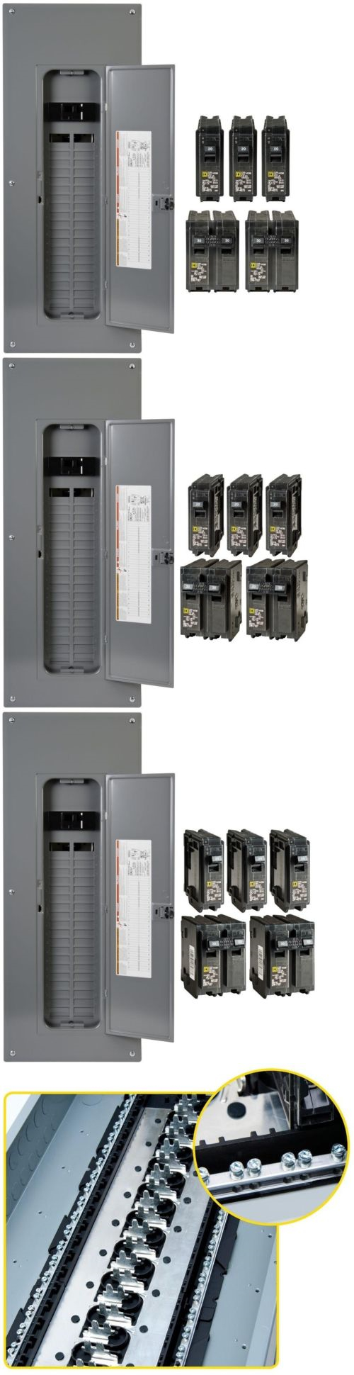 Circuit Breakers and Fuse Boxes 20596: 200 Amp 40 Space 80 Circuit Indoor Main  Breaker