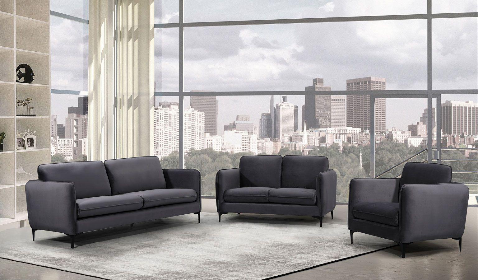 Best Poppy Velvet Living Room Set Grey Living Room Sets 3 400 x 300