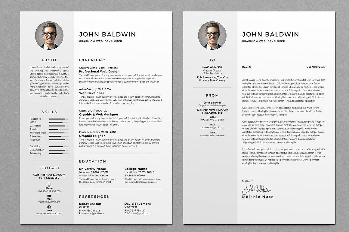 Resume/CV Mainbleedmmletter Resume cv, Cv template