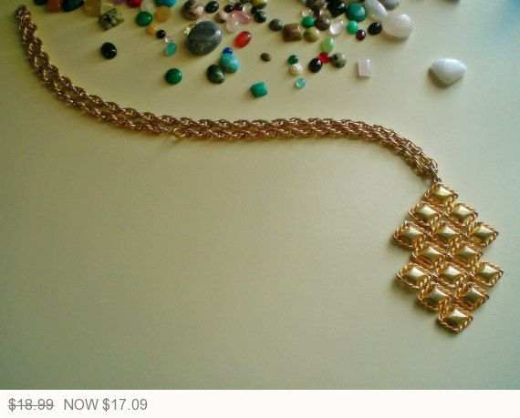 Ladies Vintage 60's Gold Tone Large Swaying by FoxJewelryBoutique