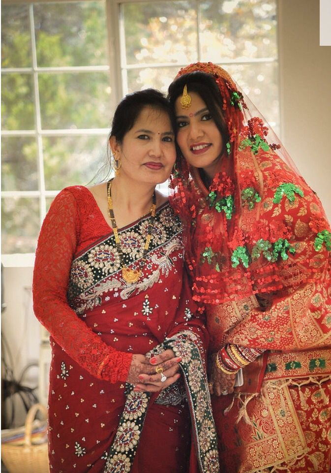 Traditional marriage ceremony pic with my loving mum