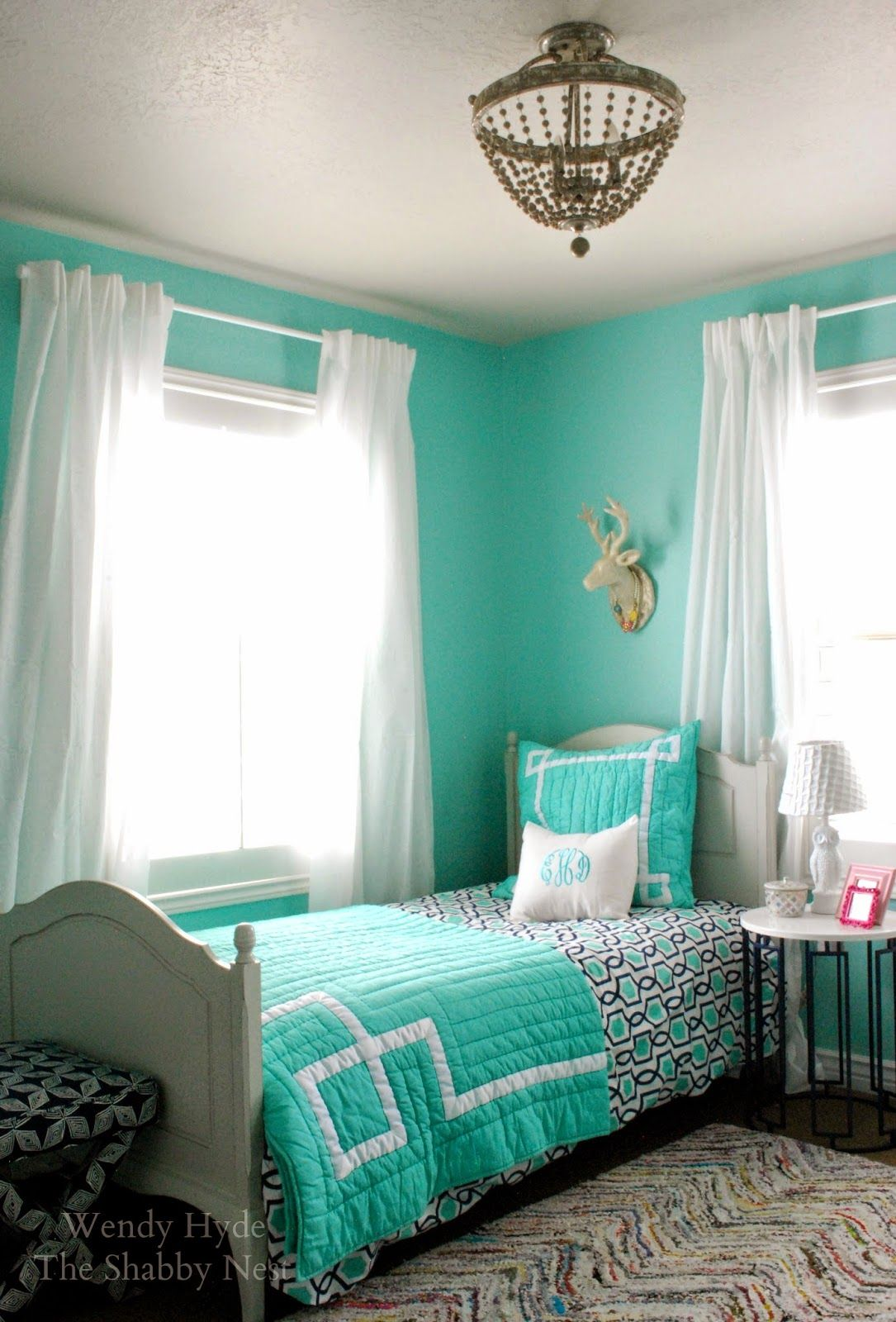 Turquoise Bedroom For Teens #turquoise (turquoise Bedroom Ideas) Tags:  Turquoise Bedroom Ideas