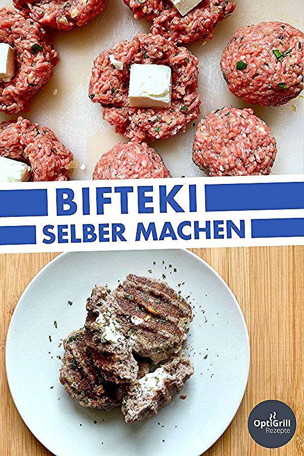 OptiGrill Rezept: Bifteki selber machen // Die griechische Form der Frikadelle, auch Bifteki genannt, unterscheidet sich durch den Feta-Käse im Inneren von den aus Deutschland bekannten Frikadellen. Wer diese Art bisher noch nicht probiert hat, sollte das unbedingt tun: Der Schafskäse sorgt in Kombination mit dem Rindfleisch für einen ganz besonderen Geschmack! #bifteki #frikadellen #optigrill #rezept #grillen